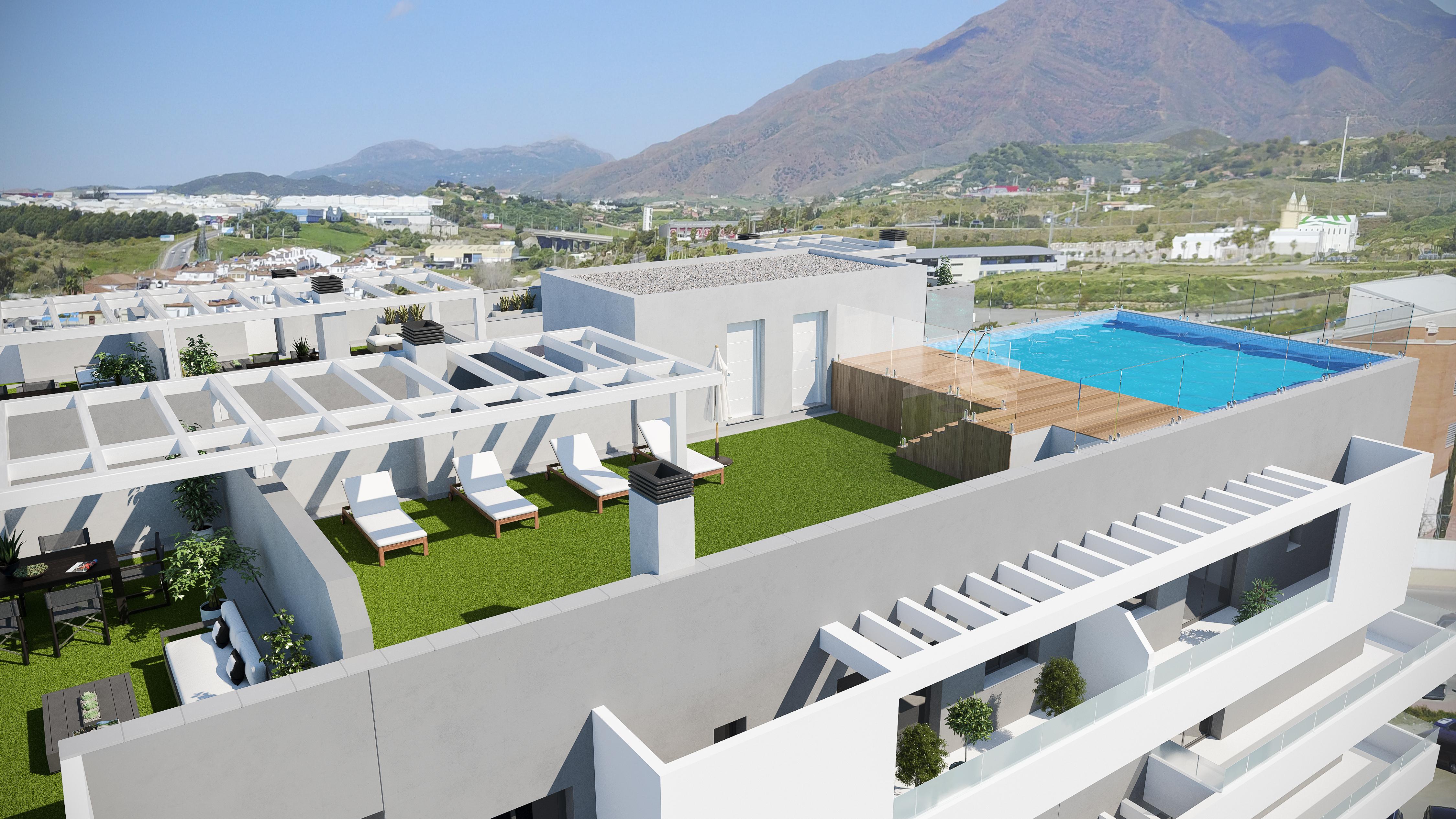 Edificio parque inmobiliaria en benalm dena marbella y for Piscinas cubiertas malaga